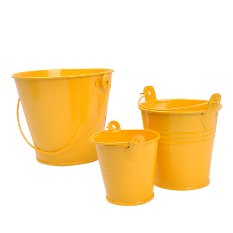Image 5 - Mini Metal Buckets Colorful Tinplate Pails Candy Boxes Flower Pots Wedding Supply Home Decoration Storage Boxes-in Flower Pots & Planters from Home & Garden