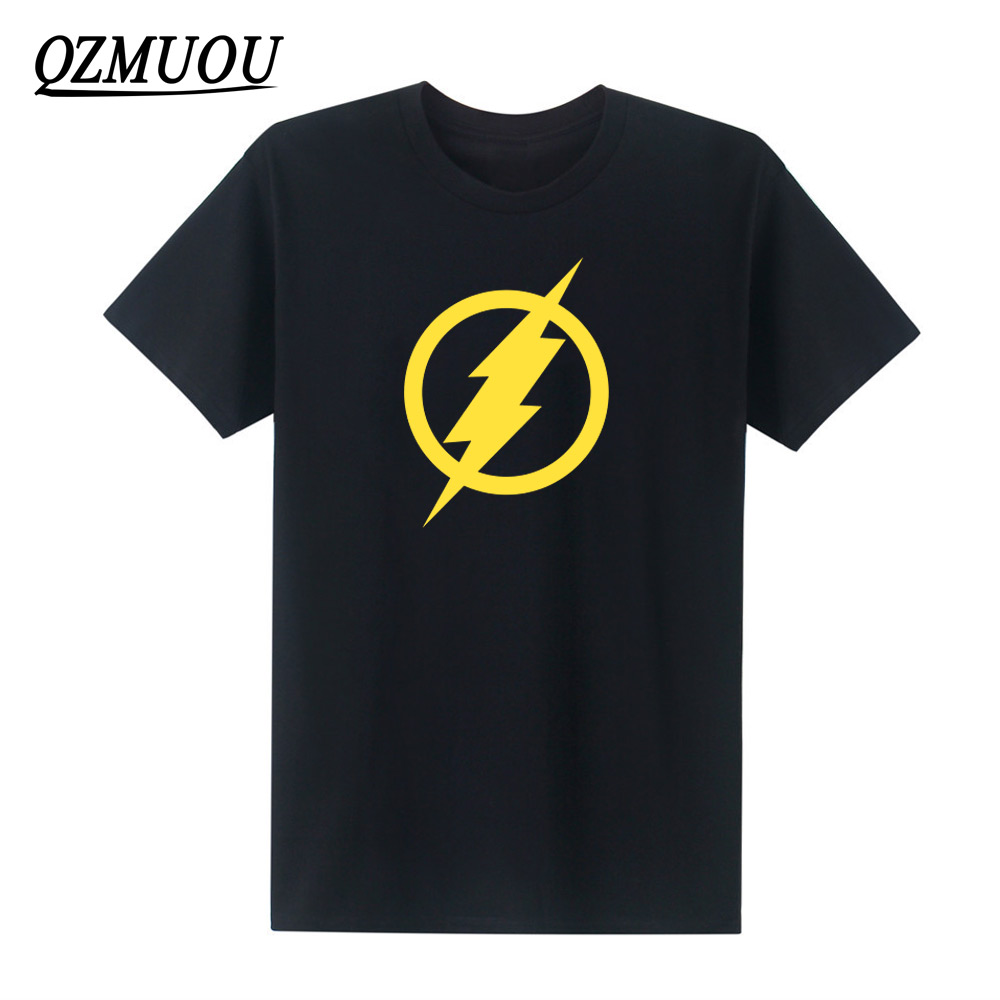 2019 New Men's Hip Hop Short Sleeve T shirts The Big Bang Theory Sheldon Cooper Flash Cosplay T-shirt Casual Tops Tees Size