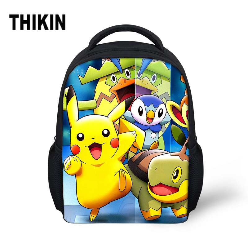 THIKIN hot Pokemon Bikach Small School Bag For Baby Boy Girls Cute Cartoon Backpack Children Kids Bookbag Kindergarten Schoolbag(China)
