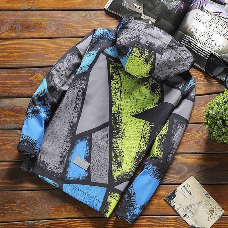 新到着ソフトシェルジャケットカチオン印刷高品質 · ボーイズカジュアル秋春コート防水ウインドブレーカー 3-15Y