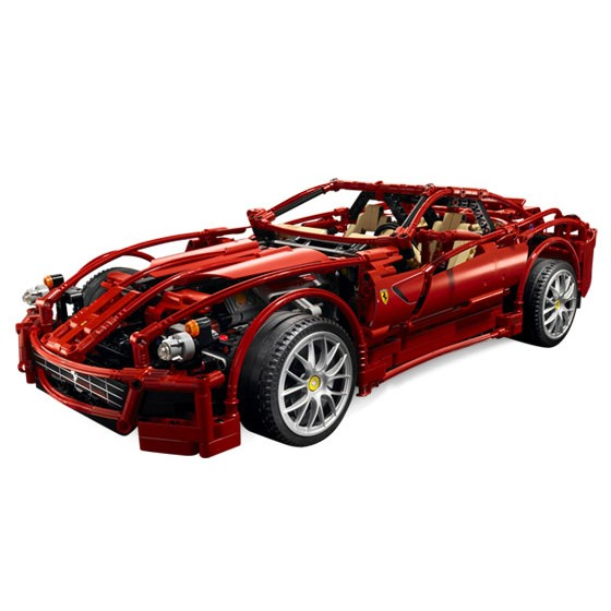 decool 3333 technic 599 gtb fiorano building toys for children toy set boy car racers car gift compatible with lepin bela 8145