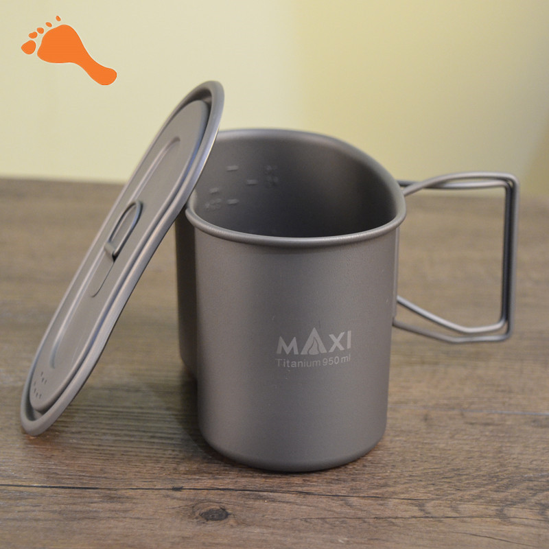 TOAKS Single Man Military Lunch box Titanium Camping Pot Cup Survival Mulit Tool 950ml ...