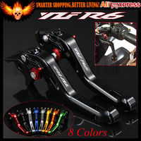 Laser Logo YZF R6 8 Colors Black New CNC Motorcycle Short Brake Clutch Levers For Yamaha