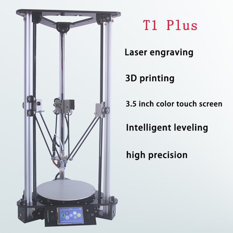 Laser Engraver Delta 3D Printer DIY Kit with Auto-Feeding Filament 32-Bit ARM Processor Bitmap Image File Cheap 3D Printers
