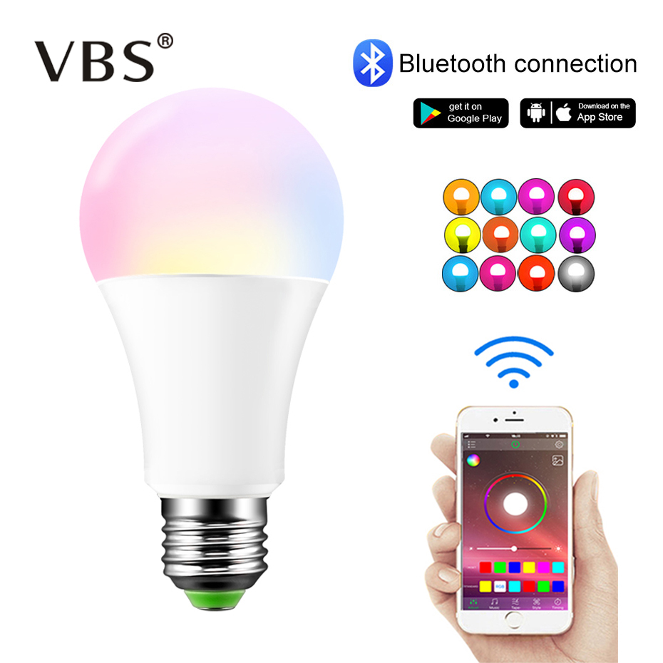 Wireless Bluetooth LED Bulb RGB Magic Smart Lamp APP Music Voice Control 15W E27/B22 Color Change Dimmable Home Lighting        Wireless Bluetooth LED Bulb RGB Magic Smart Lamp APP Music Voice Control 15W E27/B22 Color Change Dimmable Home Lighting