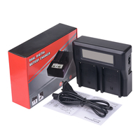 New Dual Channel Digital Camera Battery Charger With LCD Display For Sony NP F550 F750 F950