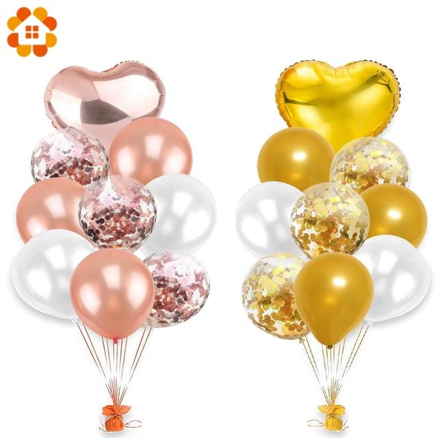 10Pcs12inch lateks kolorowe balony Confetti balony powietrza nadmuchiwane Ball Helium balon na urodziny wesele dostaw tanie i dobre opinie Dom DIY Piłkę CH1824 10SZT Owalny serce Ślub zaręczyny chrzciny chrzest wielkie wydarzenie urodziny dzień dziecka Święto Dziękczynienia Impreza Boże Narodzenie ślub nowy rok rocznica
