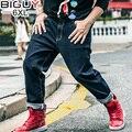 TIPO GRANDE 2XL-6XL Baggy Gran Tamaño de Los Hombres Masculinos Rectos Pantalones de Mezclilla Vaqueros 2017 de La Nueva Manera 1460 PZ4