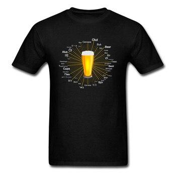 Carnival Dionysia Street T Shirts Ale Beer Different Languages Of World Text Men Tshirt Oktoberfest Beer Festival Happy T-Shirts s 2xl blue women beer girl costume bavaria oktoberfest dress beer maid dirndl