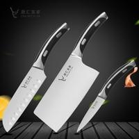Kitchen Knife Sets Slicing Knife ABS Unique Handle 7 Santoku Knife Japanese Meat Slicing Cleaver Utility Fruit Paring Knives