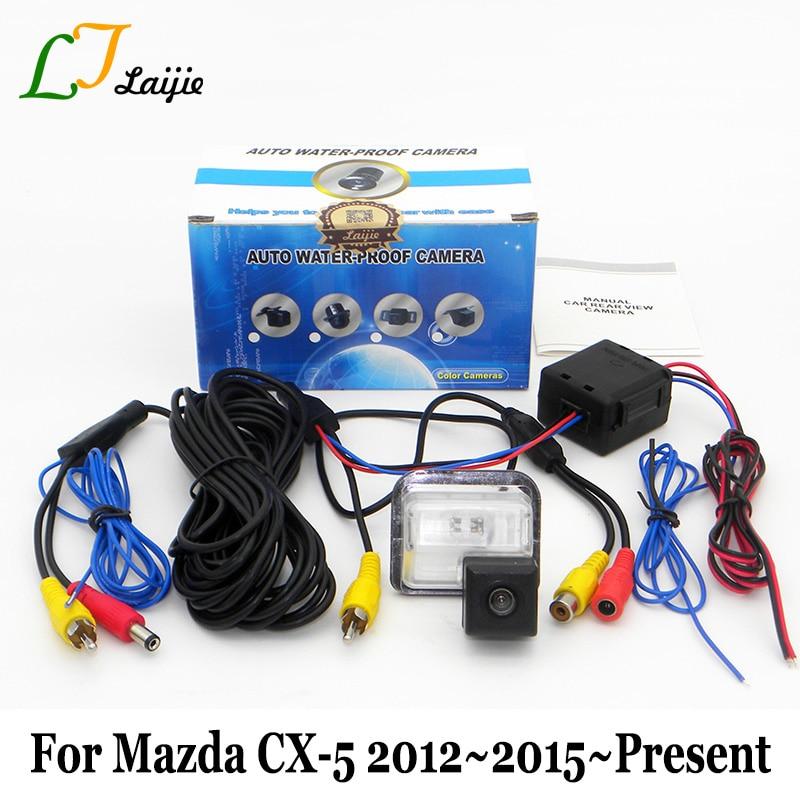 imágenes para Laijie Cámara de Visión Trasera Para Mazda CX-5 CX5 CX 5 2012 ~ 2015 2016 2017/HD CCD Lente Gran Angular Vehículo Cámara de Marcha Atrás de Copia de seguridad