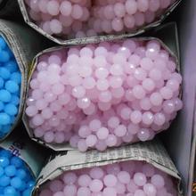 Однотонный розового цвета, 4*6 мм, 50 шт., австрийские граненые стеклянные бусины Rondelle, бусины для изготовления ювелирных изделий
