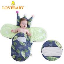 iiilovebaby Warm Baby Newborn Sleeping Bag Soft Cotton Thick Blanket Winter Cartoon Blanket for Kids Sleeping Sack Baby недорого