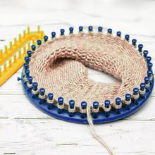 Вязальный ткацкий станок, пластиковые круглые шапки, инструменты для плетения, шапка, шарф, шарфы, ткацкий станок, вязание крючком, швейные инструменты