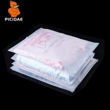 Матовая полупрозрачная упаковка для хранения одежды на молнии Пластиковый чехол матовый многоразовый замок на молнии комплект одежды платье сумки для самостоятельной Печати