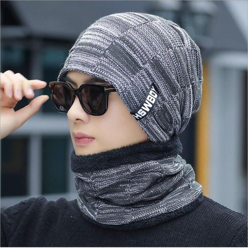 Winter Hat Skullies Beanies Hat Winter Beanies For Men Women Wool Scarf Cap Balaclava Mask Gorras Bonnet Knitted Hats