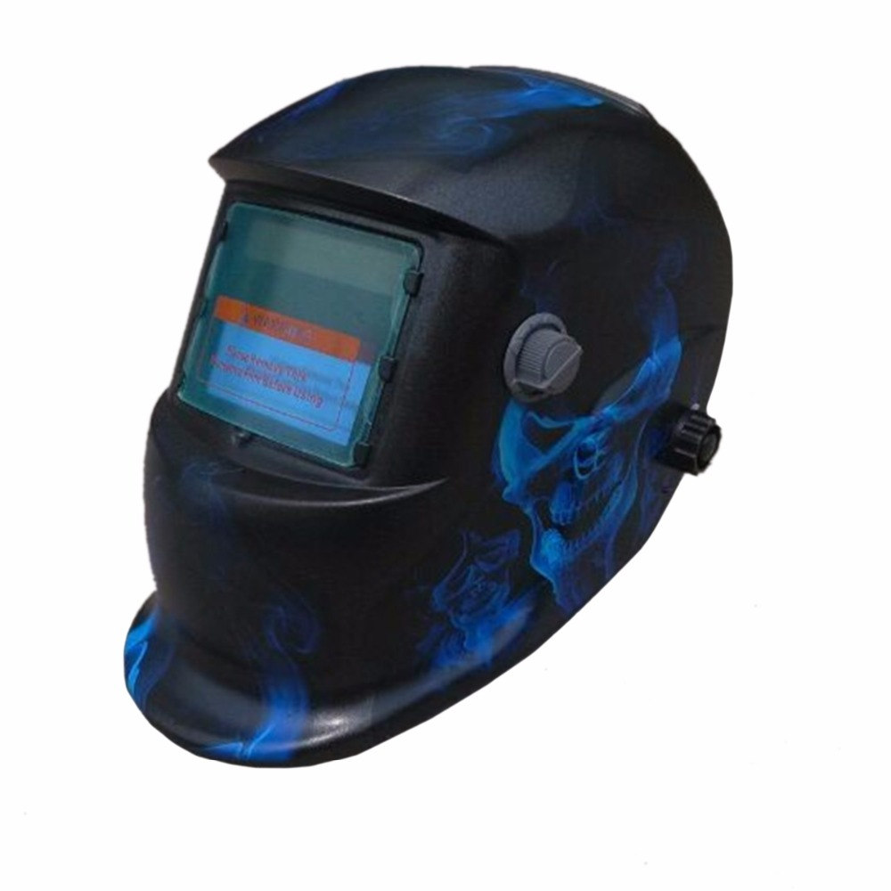 Flashing Lightning Auto Darkening Welding Helmet TIG MIG MMA Electric Welding Mask/Helmet/Welder Cap/Lens for Welding dekopro skull solar auto darkening mig mma electric welding mask helmet welder cap welding lens for welding machine