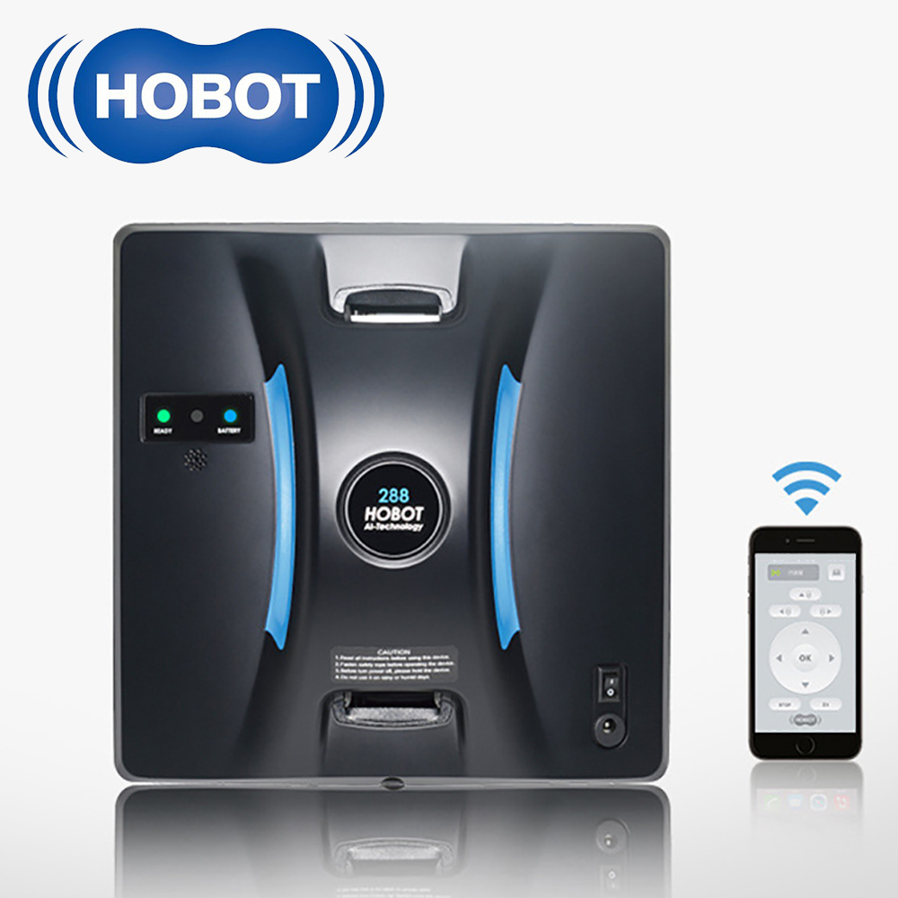 HOBOT 100-240V ménage intelligent automatique fenêtre aspirateur Robot balayage Machine haute aspiration humide sec essuyage Robot balayeuse