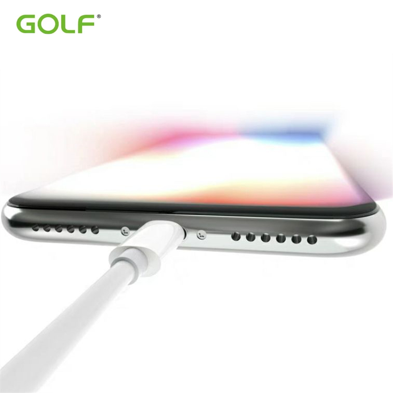 GOLF Original 1m Fast Charging Cable For iPhone XS MAX XR USB Data Sync Charger Cables for iPhone 5 5S 5C SE 6 6S 7 8 Plus X in Mobile Phone Cables from Cellphones Telecommunications