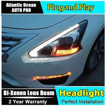 Car Styling LED Head Lamp for Nissan Teana led headlight 2013-2015 New Altima headlights drl headlight HID KIT Bi-Xenon Lens
