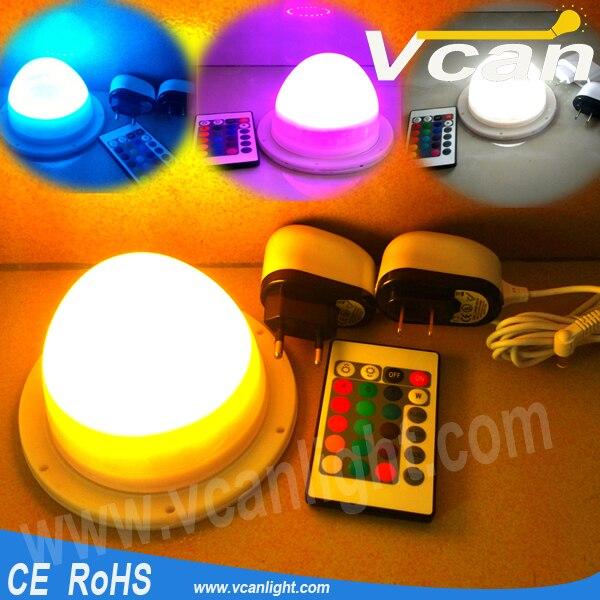 Livraison gratuite rapide lumineux RGB coloré Table de mariage gâteau Table décoration lumineuse LED - 3