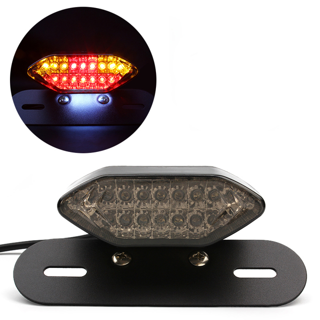 Universal Motorcycle LED Brake Turn Signal Lights Integrated Tail Lamps Motorbike Reversing Indicator Accessories Styling Harley
