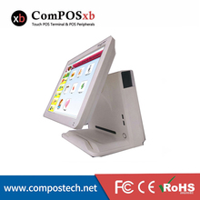 "New Product 15"" Touch Screen All in One Touch Restaurant System/POS Terminal With VFD Customer Display"