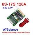 DYKB 6 S-17 S 50A 80A 120A w/баланс BMS LiFePO4 литий-ионный аккумулятор защита плата 24 в 36 в 48 в 60 в 7S 8S 10S 12S 13S 14S 16S
