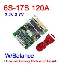 DYKB 6S 17S 50A 80A 120A w/Balance BMS LiFePO4 Li ion batterie au lithium carte de protection 24V 36V 48V 60V 7S 8S 10S 12S 13S 14S 16S