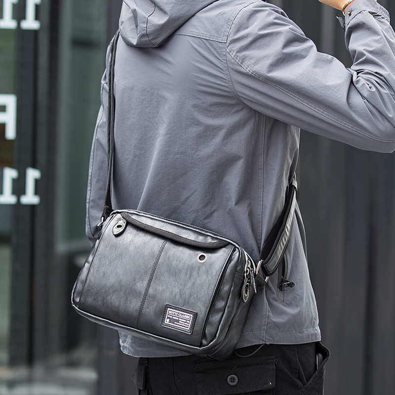 Man Leather Classic Bag Cross Body Bag Travel Bag Shopping Business Messenger Bag for Men Top Quality