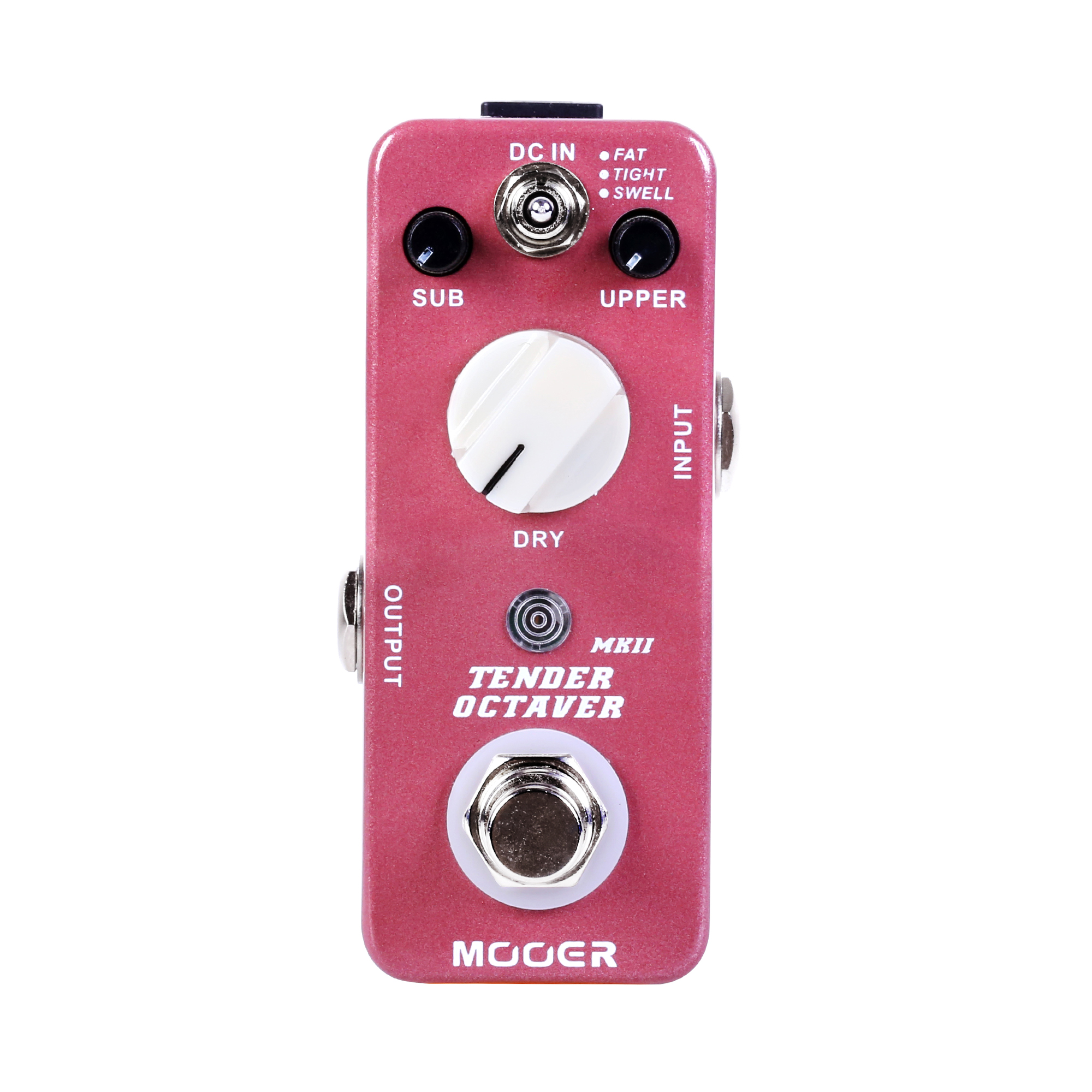 Mooer Tender Octaver MKII Precise Octave Guitar Effect Pedal SUB UPPER DRY Controls True Bypass 3 Tones Switch mooer ensemble queen bass chorus effect pedal mini guitar effects true bypass with free connector and footswitch topper