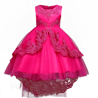 Berngi Girls Dress Princess Brand Embroidery Tailing Party Dresses For Kids 4 13 Years Teens Graduation