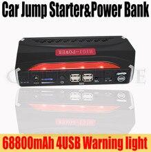 Portátil Multi-Función de 68800 mAh 12 V Coche Salto de Arranque Banco de Potencia Pico 600A Batería de Refuerzo Coche 4USB Cargador Luces SOS Envío Gratis