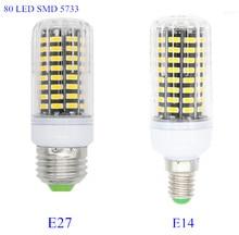 B22 SMD 5733 Lampada LED Lamp E27 220V 7W 80LED E14 Bombillas LED Bulb 110V Spotlight Ampoule LED Light Candle Luz