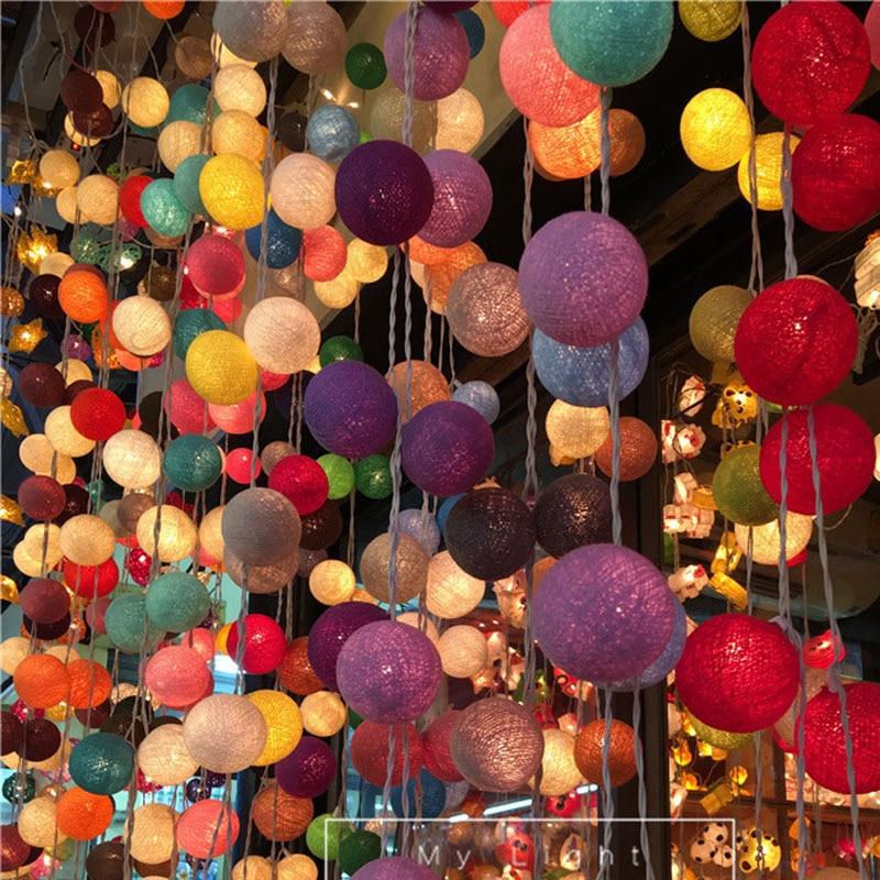 AC 35 Bomullsbelysning Bollar Julfee Strängljus Heminredning Fiestas - Festlig belysning - Foto 4