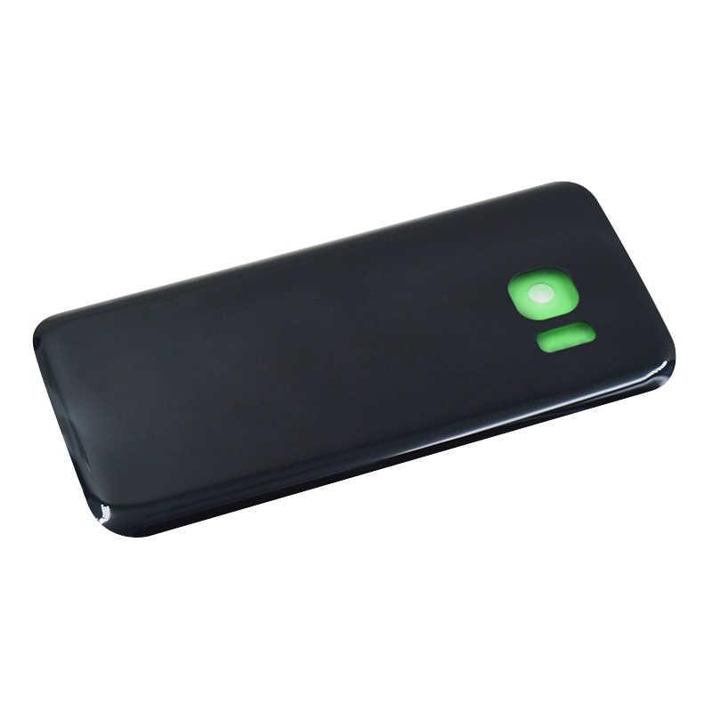 """5,1 """"para SAMSUNG Galaxy G930F S7 S7 borde G935F vidrio puerta trasera batería caso de la vivienda de la cubierta para SAMSUNG s7 volver cubierta de vidrio"""