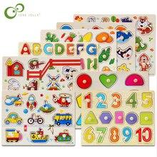 30cm criança cedo brinquedos educativos bebê mão aperto de madeira quebra cabeça brinquedo alfabeto e dígito aprendizagem educação criança brinquedo madeira wyq