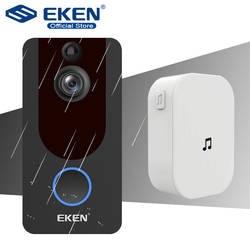 Eken V7 дверной звонок Камера смарт-маршрутизатор Wi-Fi видео домофонный дверной звонок видео звонок для квартиры PIR Беспроводной с цветными