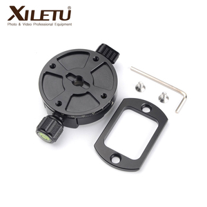 Image 3 - XILETU XPC 60 360 Degree Panoramic Clamp Aluminum Alloy Adapter Quick Release Plate Tripod DSLR Photography Accessory Only 145g