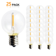 25 шт. G40 1 Вт Светодиодный строка Замена огней лампочки E12 220 V 110 V теплый белый 2700 K светодиодный лампы заменить G40 5 W 7 W лампы накаливания