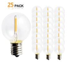 25 PCS G40 1 W LED מחרוזת אורות החלפת הנורה E12 220 V 110 V חם לבן 2700 K LED מנורות להחליף G40 5 W 7 W ליבון נורות