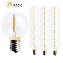 25 pièces G40 1 W LED chaîne lumières ampoule de remplacement E12 220 V 110 V blanc chaud 2700 K lampes LED remplacer G40 5 W 7 W ampoules à incandescence