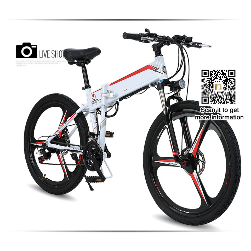 48v lithium battery folding bike aluminum alloy electric. Black Bedroom Furniture Sets. Home Design Ideas