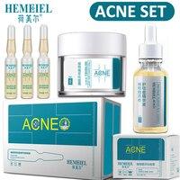 HEMEIEL Acne Treatment Set Anti Acne Face Cream Pimples Scar Removal Facial Serum Nature Plants Essence Whitening Skin Care Set