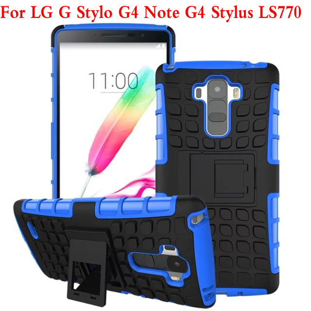 Back Cover Dual Color TPU Plastic Heavy Duty Armor Hard Cell Phone Case For LG G4 Note G Stylo G4 Stylus LS770 Shock Proof Cover