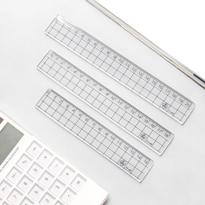 1pcs Simple STYLE 15cm 18cm 20cm Transparent Simple ruler square ruler cute stationery drawing supplies