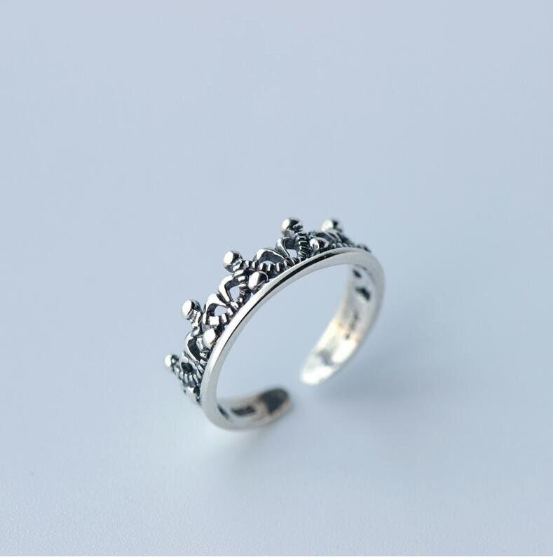 Verlobungsringe Hochzeits- & Verlobungs-schmuck Diszipliniert Shuangshuo Versilbert Modeschmuck Vintage Crown Ringe Einstellbar Einfache Hochzeit Zubehör Party Geschenk