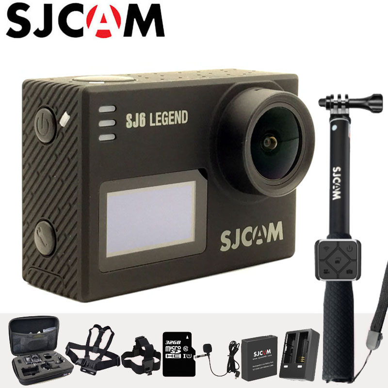 SJCAM SJ6 Legend Action Camera 4K Sports DV Wifi 30m Waterproof 1080P Ultra HD 2 Touch Screen Notavek 96660 Remote Original Cam in stock sjcam legend sj6 wifi notavek 96660 4k 24fps ultra hd waterproof camera action cam 2 0 touch screen remote sport dv