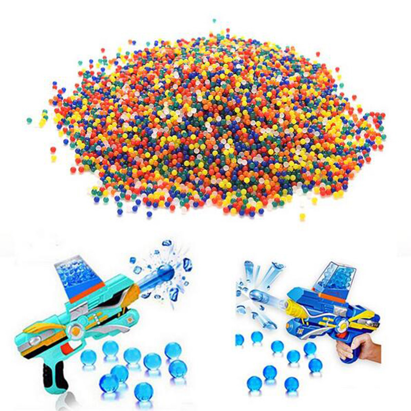 10000pcs/bag Water Bullet Balls Gun Pistol Toys Water Gun Crystal Soft Bullet paintball guns Toys Crystal Soil Bead Bio Gel Ball