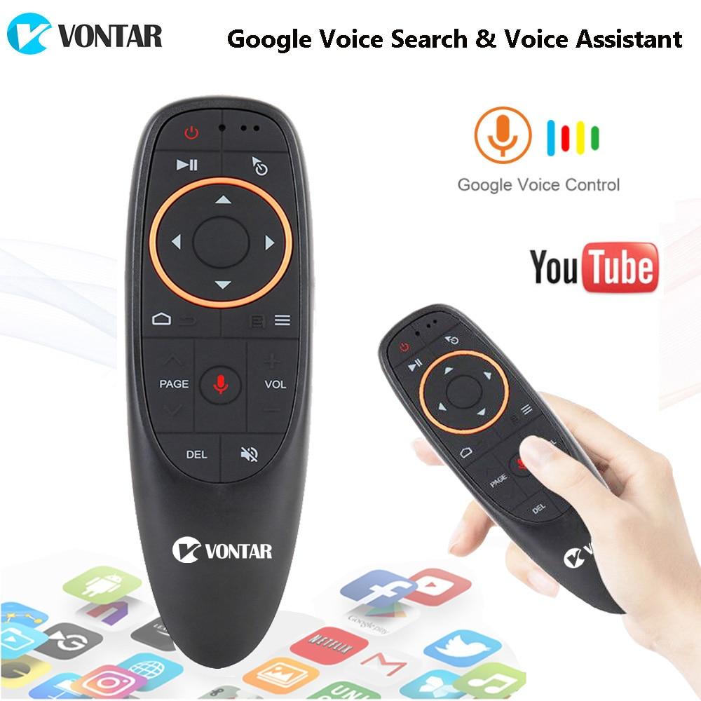 Google Stimme Fernbedienung 2,4G Wireless Air Maus Mikrofon IR Lernen 6-achse Gyroskop für Android Box T9 h96 Max X96 Mini